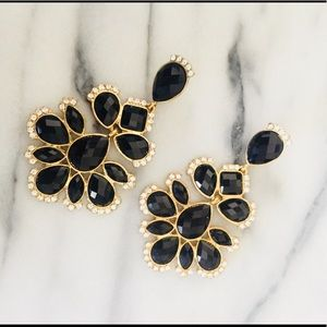 Amrita Singh Black and Gold Earrings